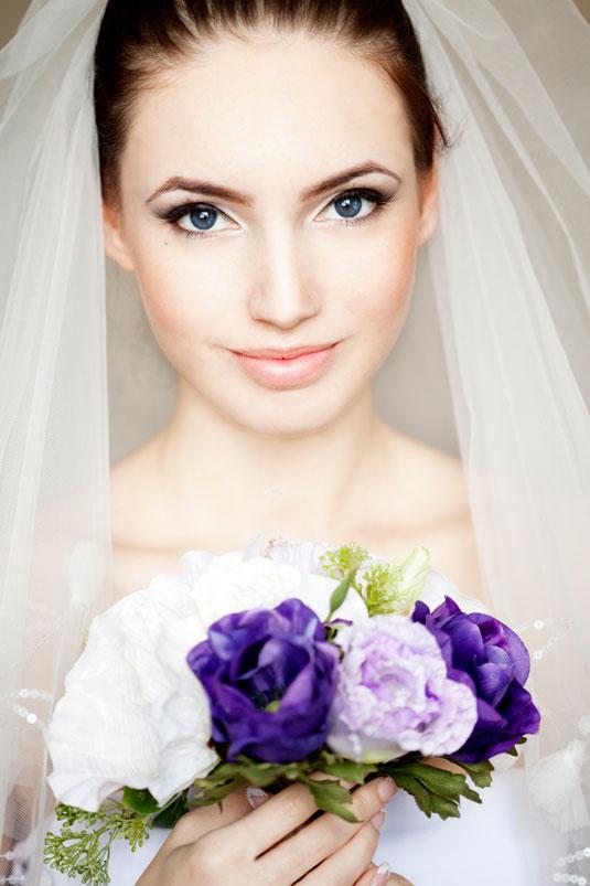 sade düğün makyajı