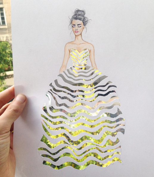 çiçeklerden elbise tasarımı moda